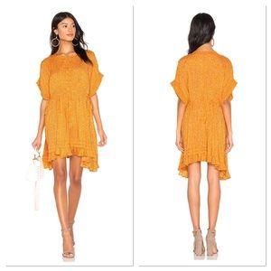 NWT Free People One Fine Day Yellow Mini Dress SzS